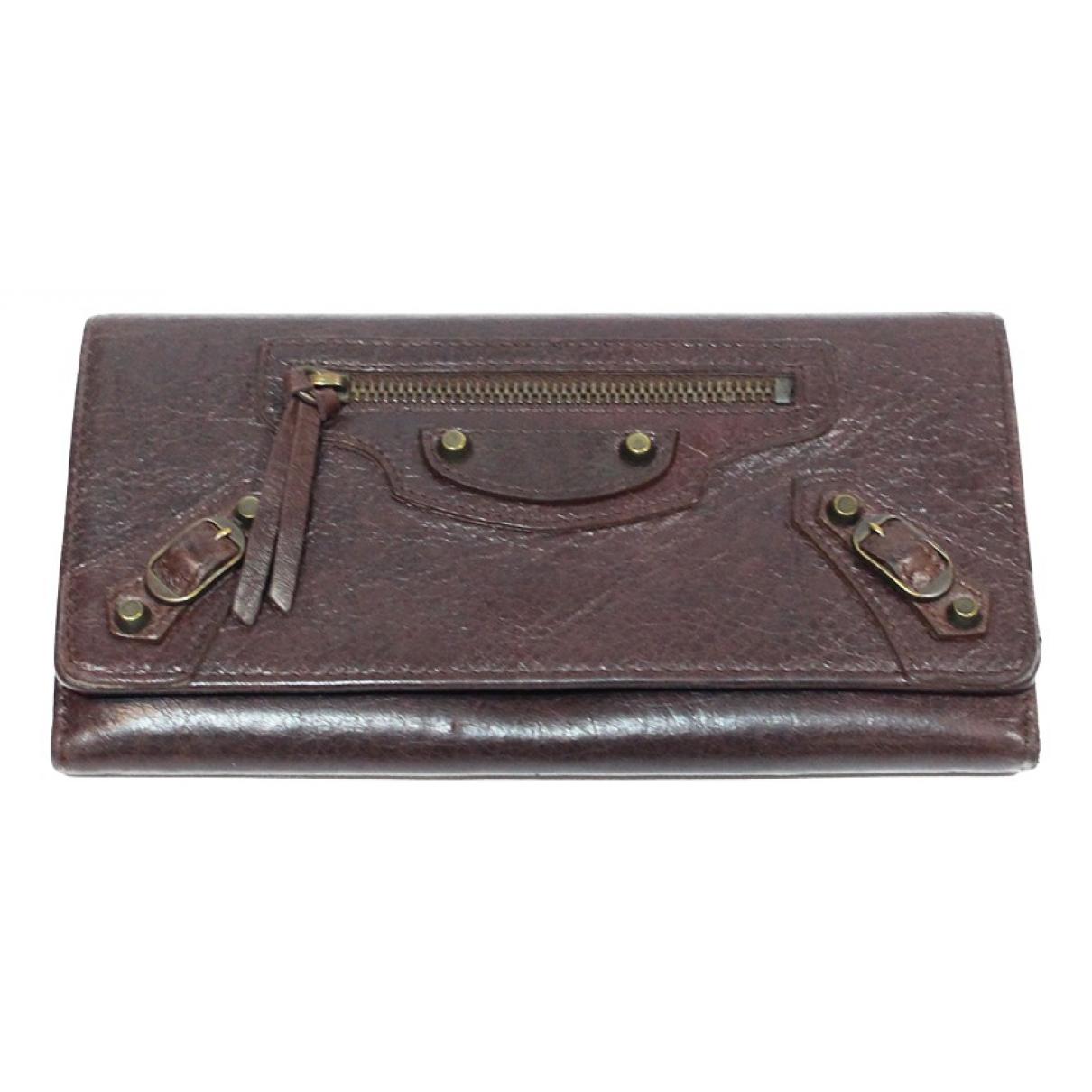 Balenciaga N Burgundy Leather wallet for Women N