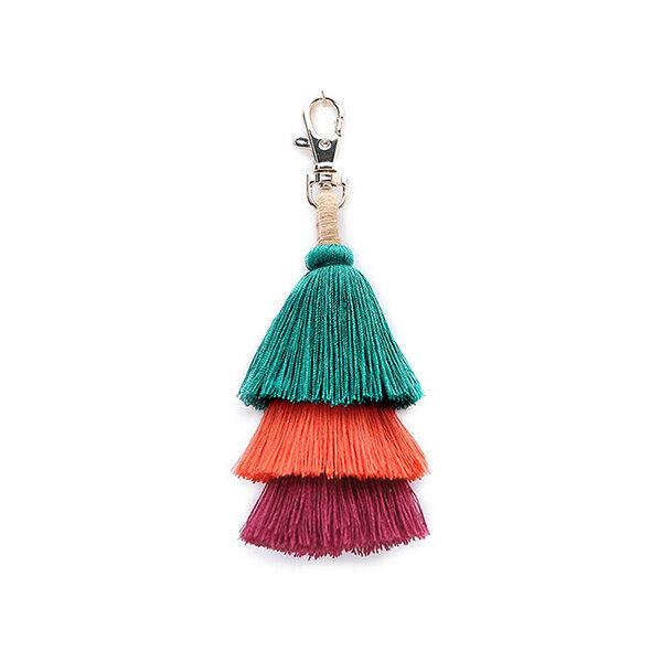 Women Bohemian Bag Accessories Tassel Pendant Keychain