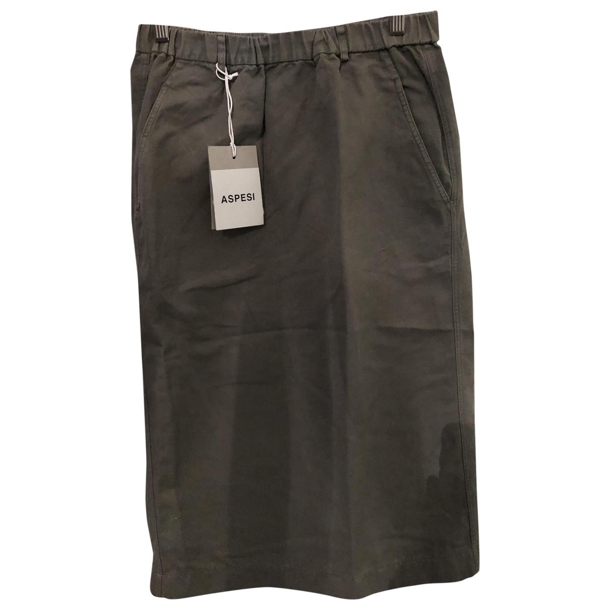 Aspesi \N Khaki Cotton skirt for Women 42 IT