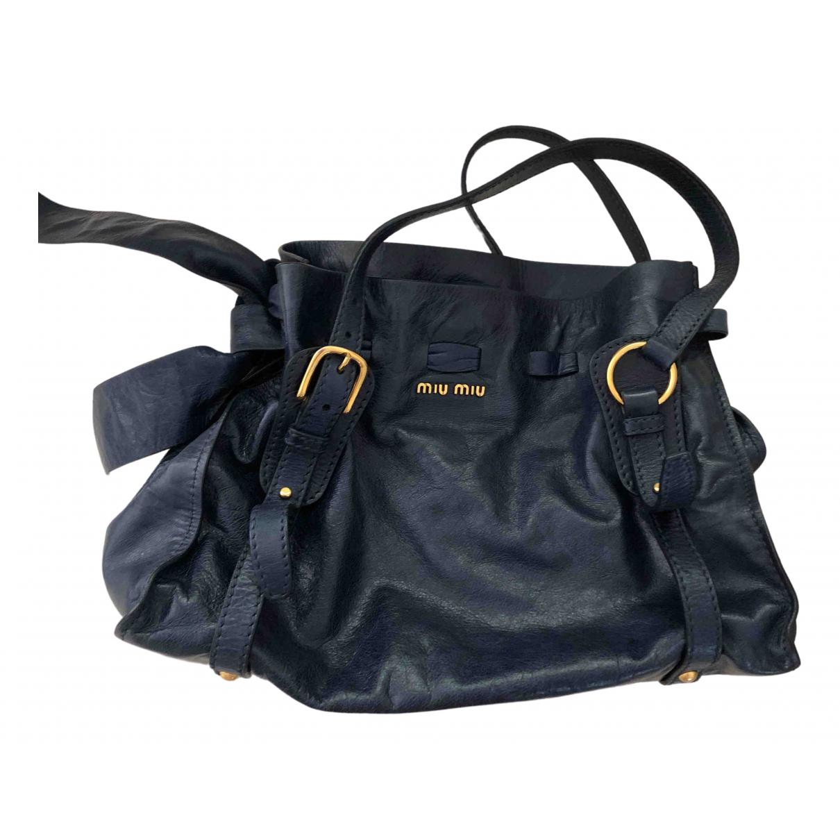 Bolso  Bow bag de Cuero Miu Miu