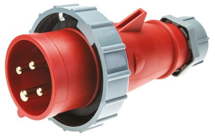 MENNEKES , AM-TOP IP67 Red Cable Mount 4P Industrial Power Plug, Rated At 16.0A, 400 V