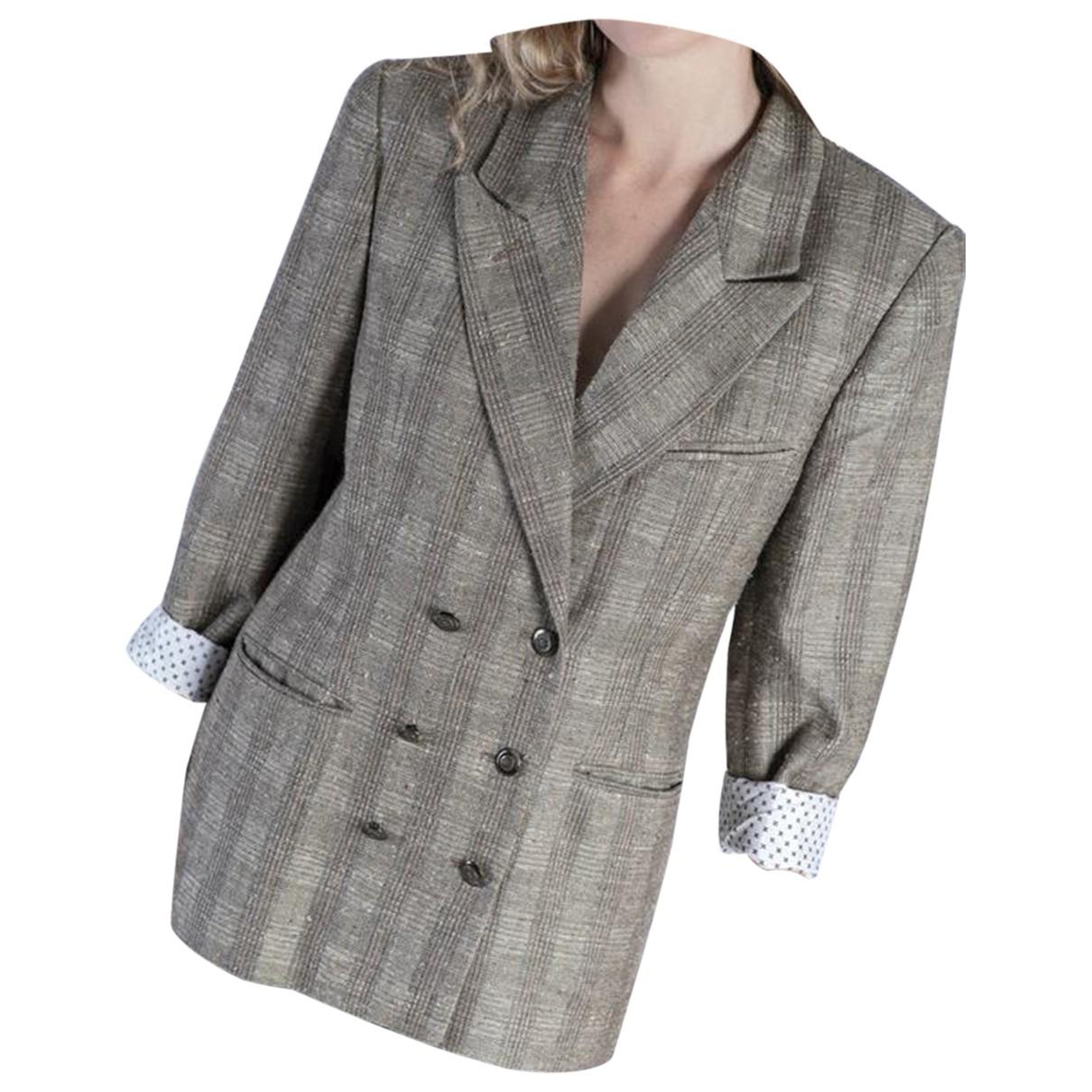 Hugo Boss N Brown Linen jacket for Women L International