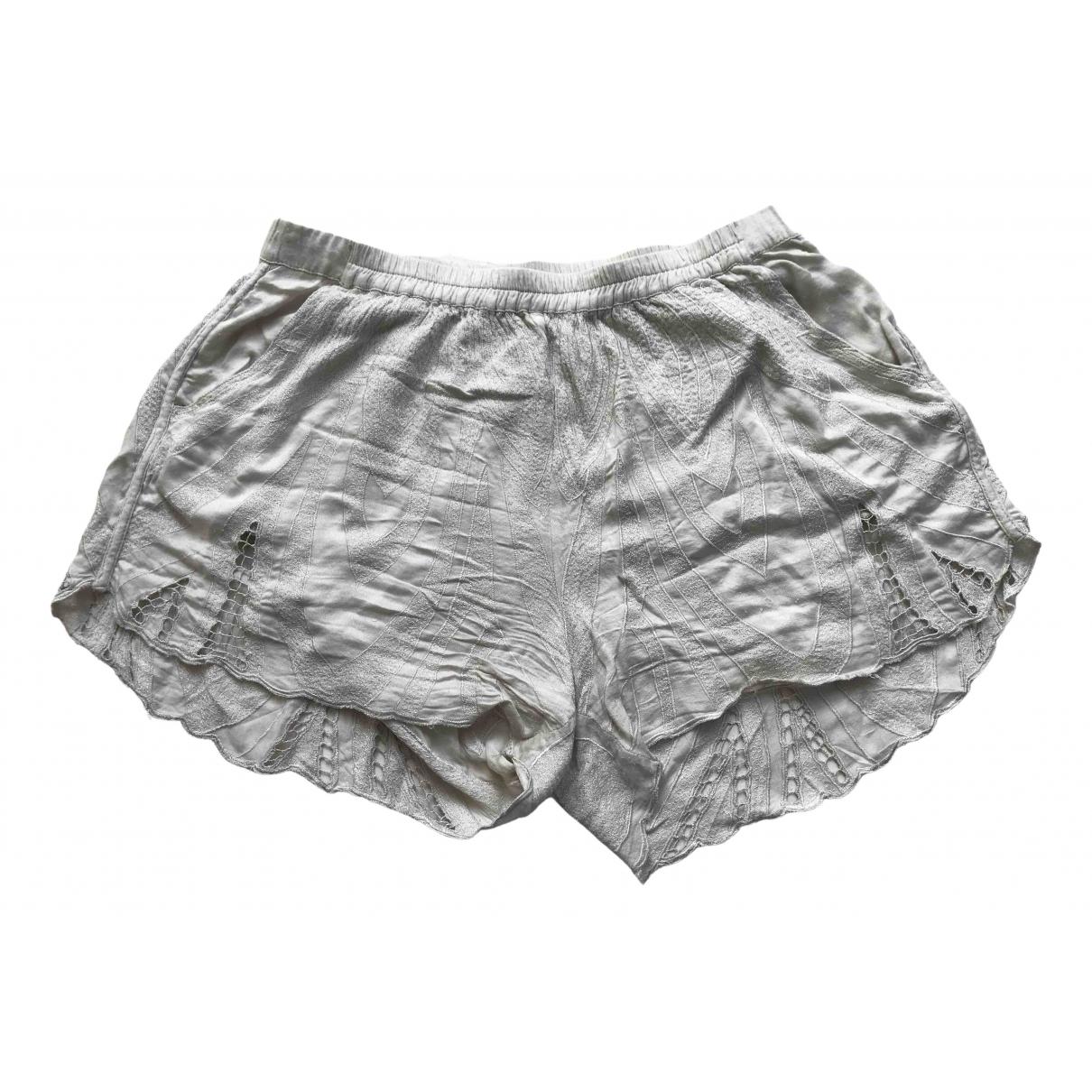 Rabens Saloner - Short   pour femme - ecru