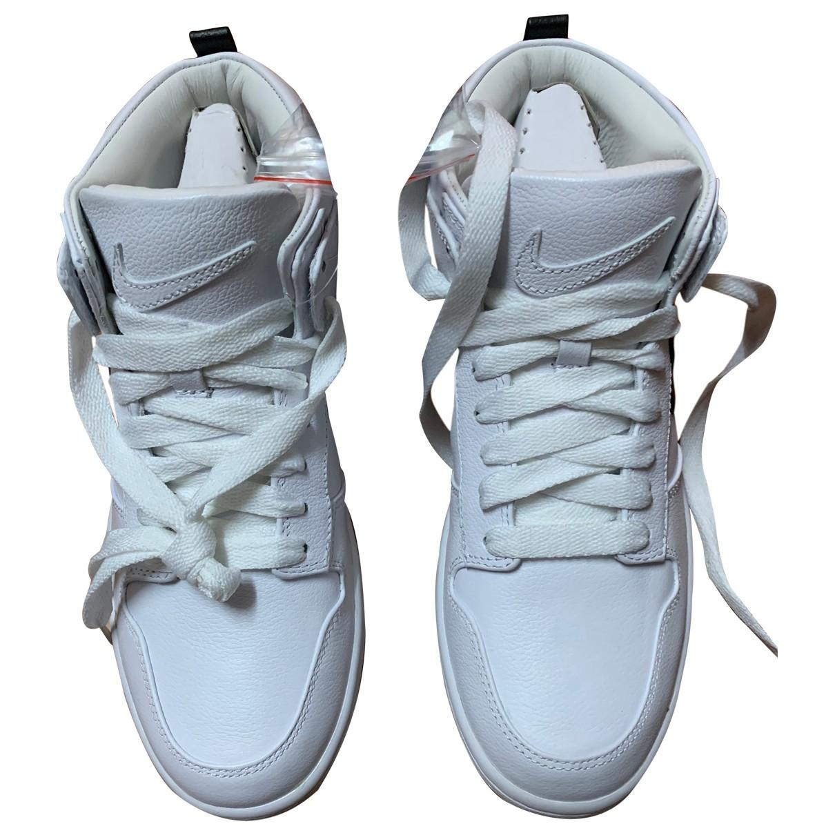 Nike By Riccardo Tisci \N Sneakers in  Weiss Leder