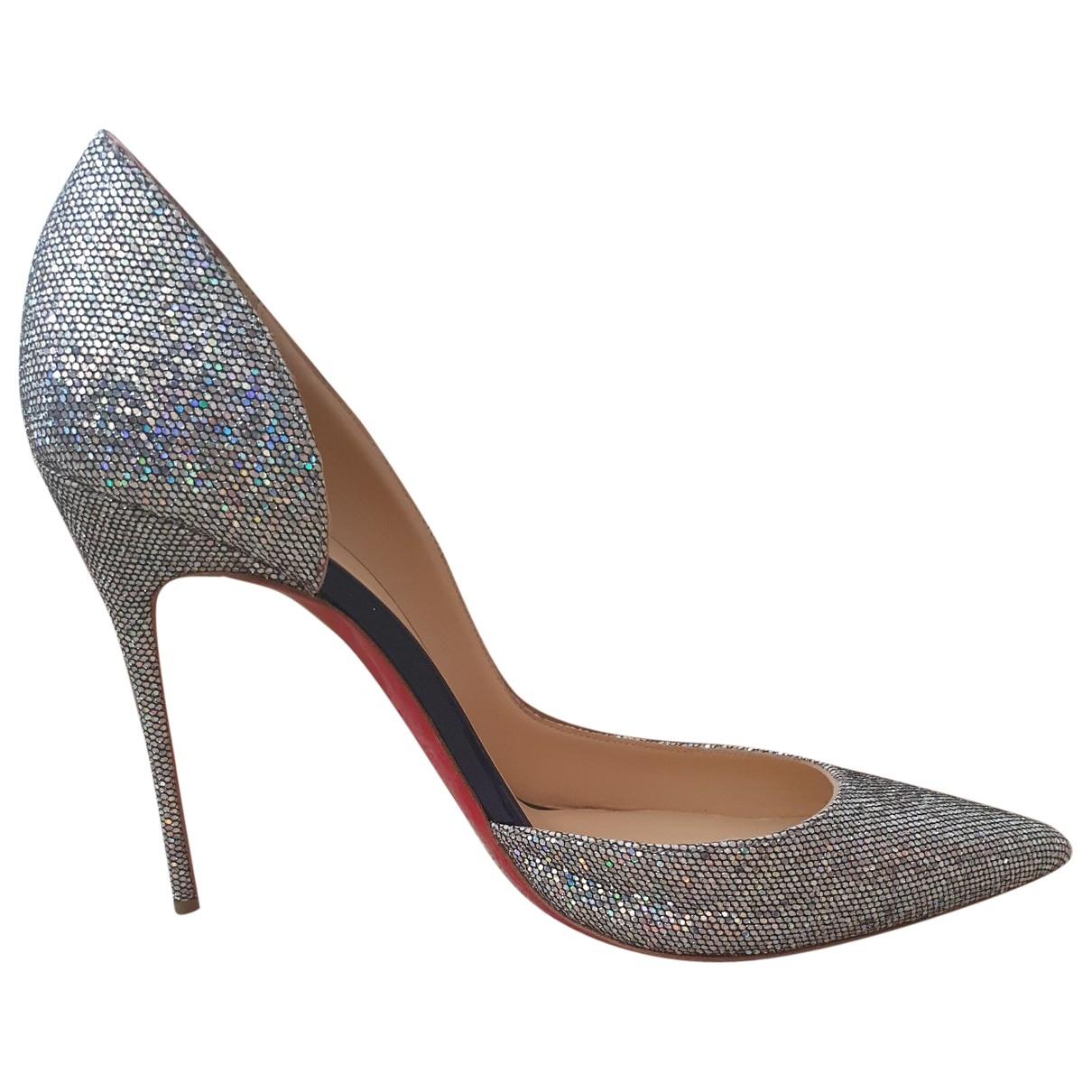 Christian Louboutin Iriza Metallic Glitter Heels for Women 40 EU