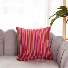 Striped Pattern Cushion Cover Without Filler
