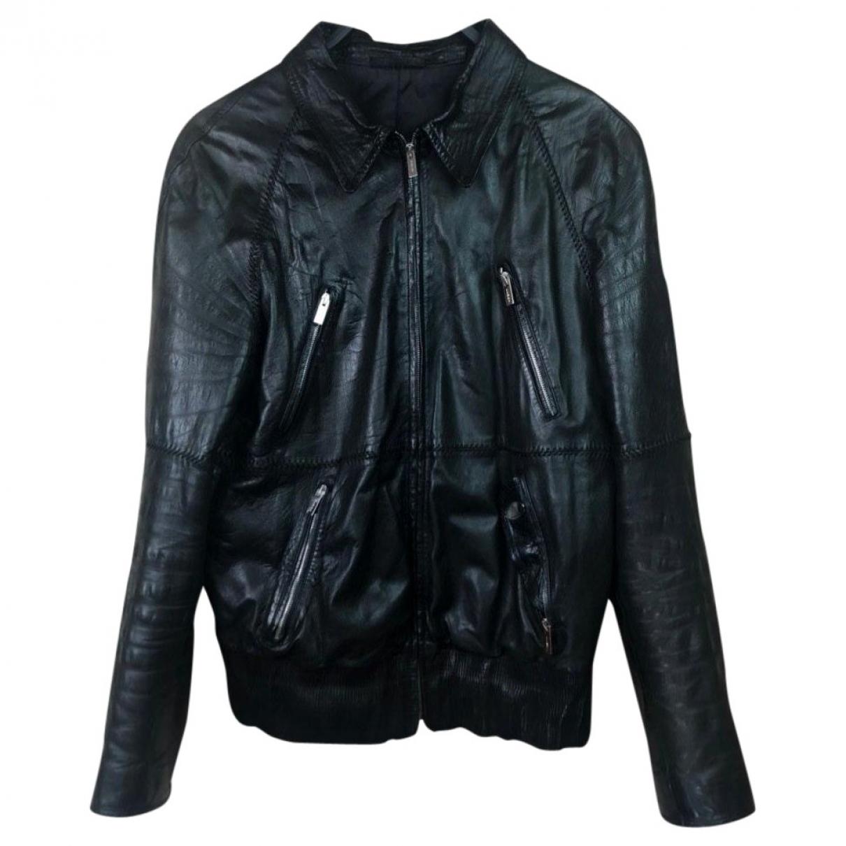 Fendi \N Black Leather jacket  for Men L International