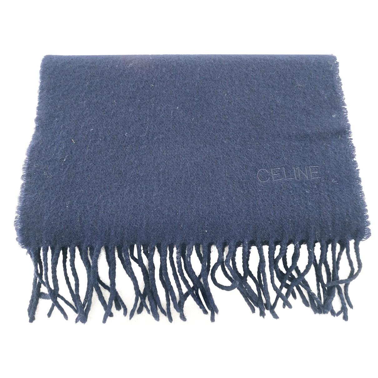 Celine \N Blue Wool scarf for Women \N