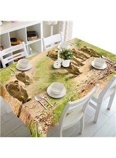 Cute European Style Lions Prints Design Washable Home Decoration 3D Tablecloth