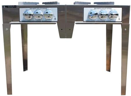 SSBIG60IIN Big Sixty Utility Series Natural Gas Double Burner Utility Stove with Two Burners  Three Independent Burner Rings  120 000 BTU and Leg