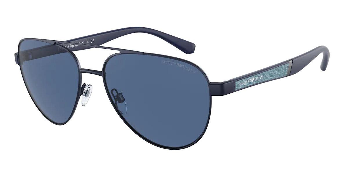 Emporio Armani EA2105 301880 Men's Sunglasses Black Size 59