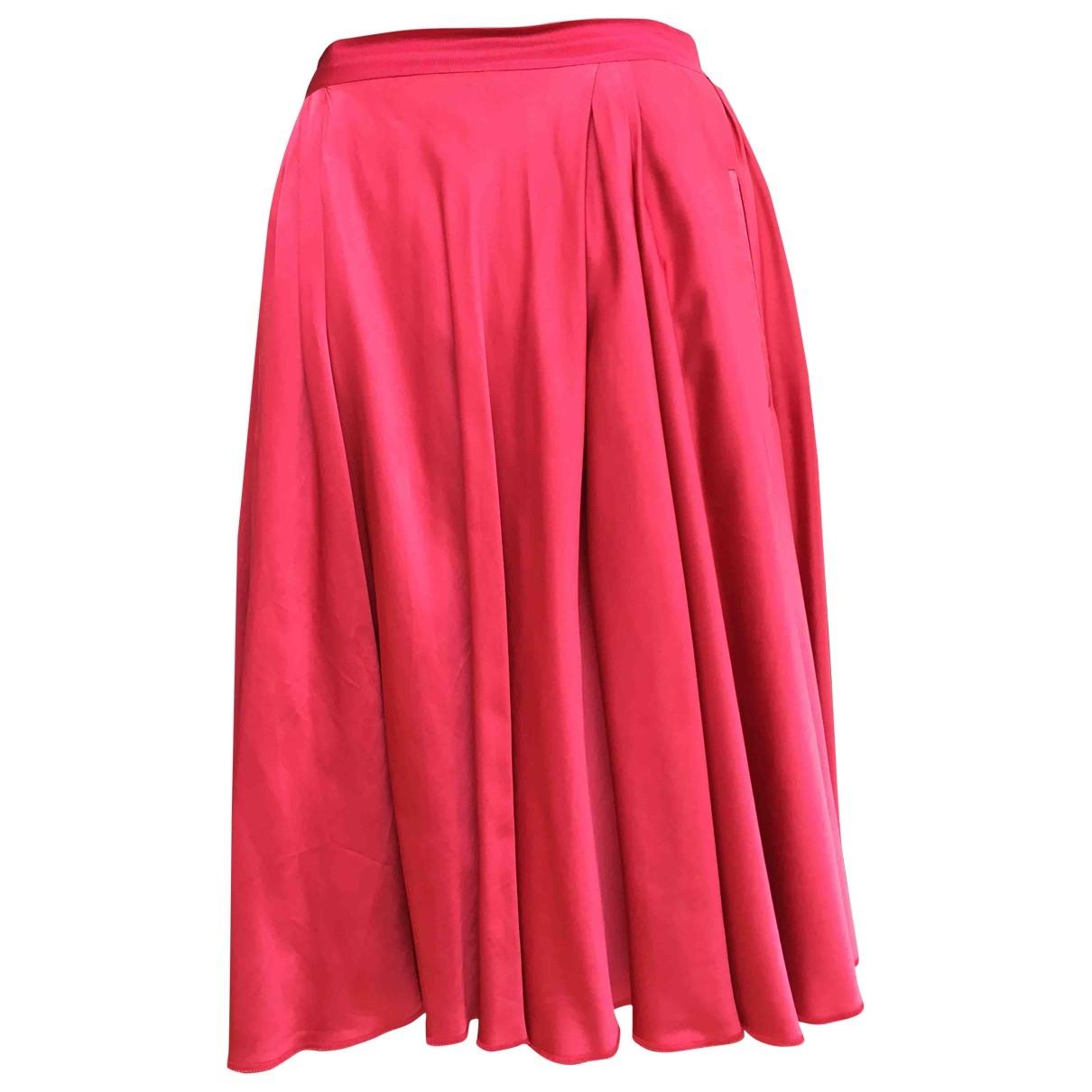 Nina Ricci - Jupe   pour femme en soie - rouge