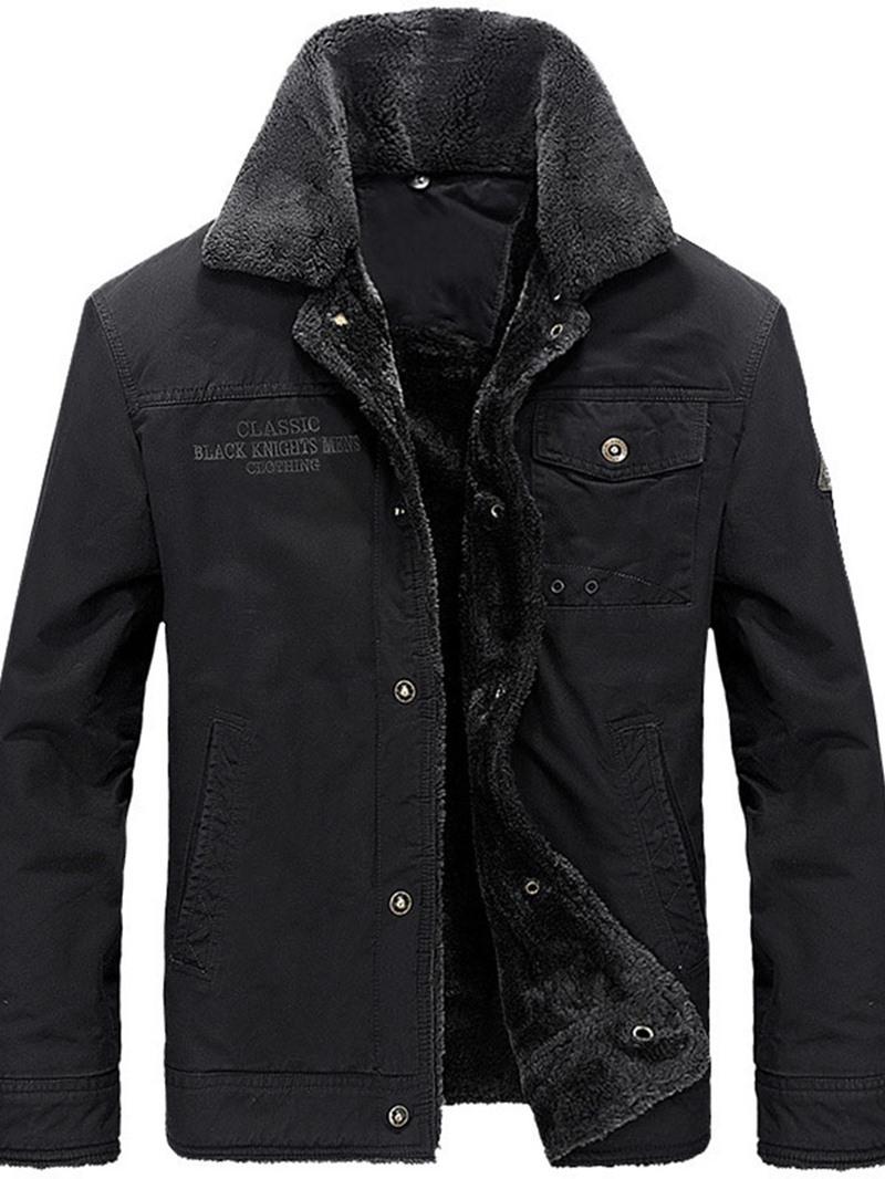 Ericdress Standard Plain Pocket European Single-Breasted Men's Down Jacket