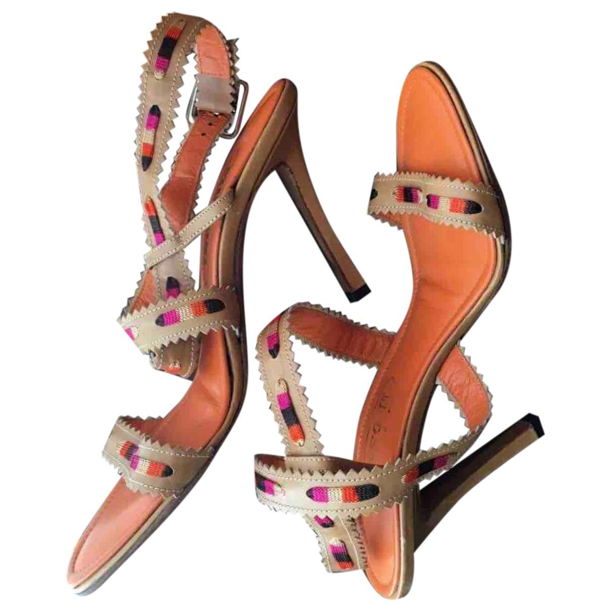 Missoni \N Camel Leather Sandals for Women 39 EU