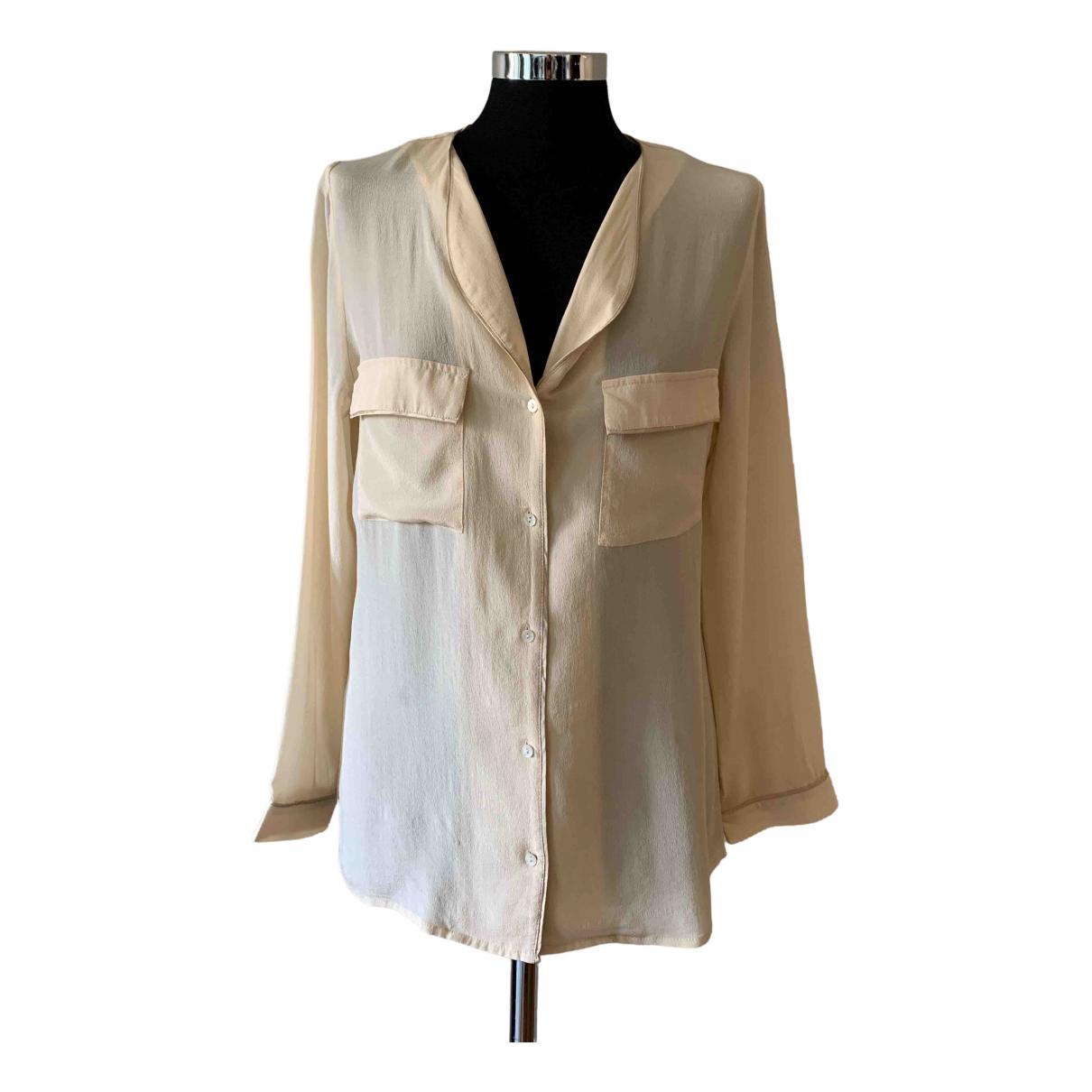 Comptoir Des Cotonniers - Top   pour femme en soie - beige
