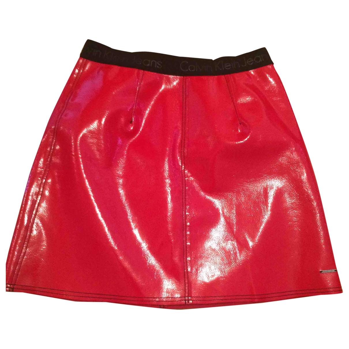 Calvin Klein \N Rocke in  Rot Synthetik