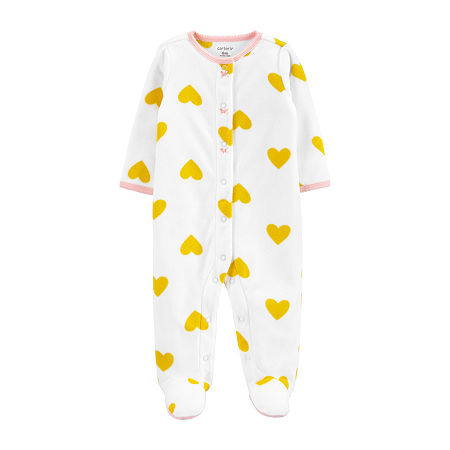 Carter's Baby Girls Sleep and Play, 6 Months , White
