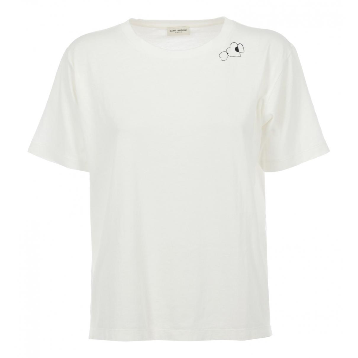 Saint Laurent \N White Cotton  top for Women One Size International