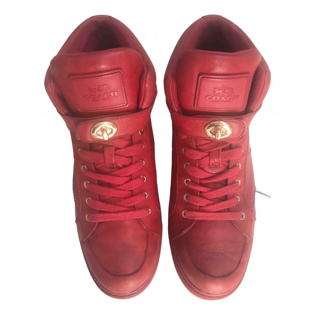 Coach \N Sneakers in  Rot Leder