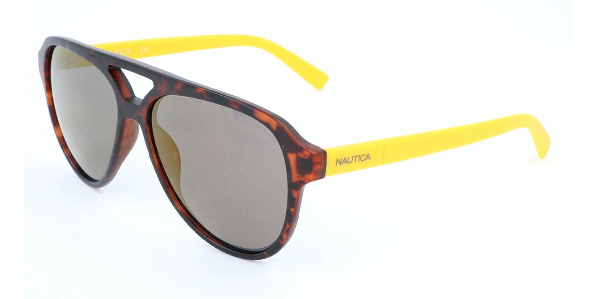 Nautica N3632SP Polarized 237 Men's Sunglasses Tortoise Size 58