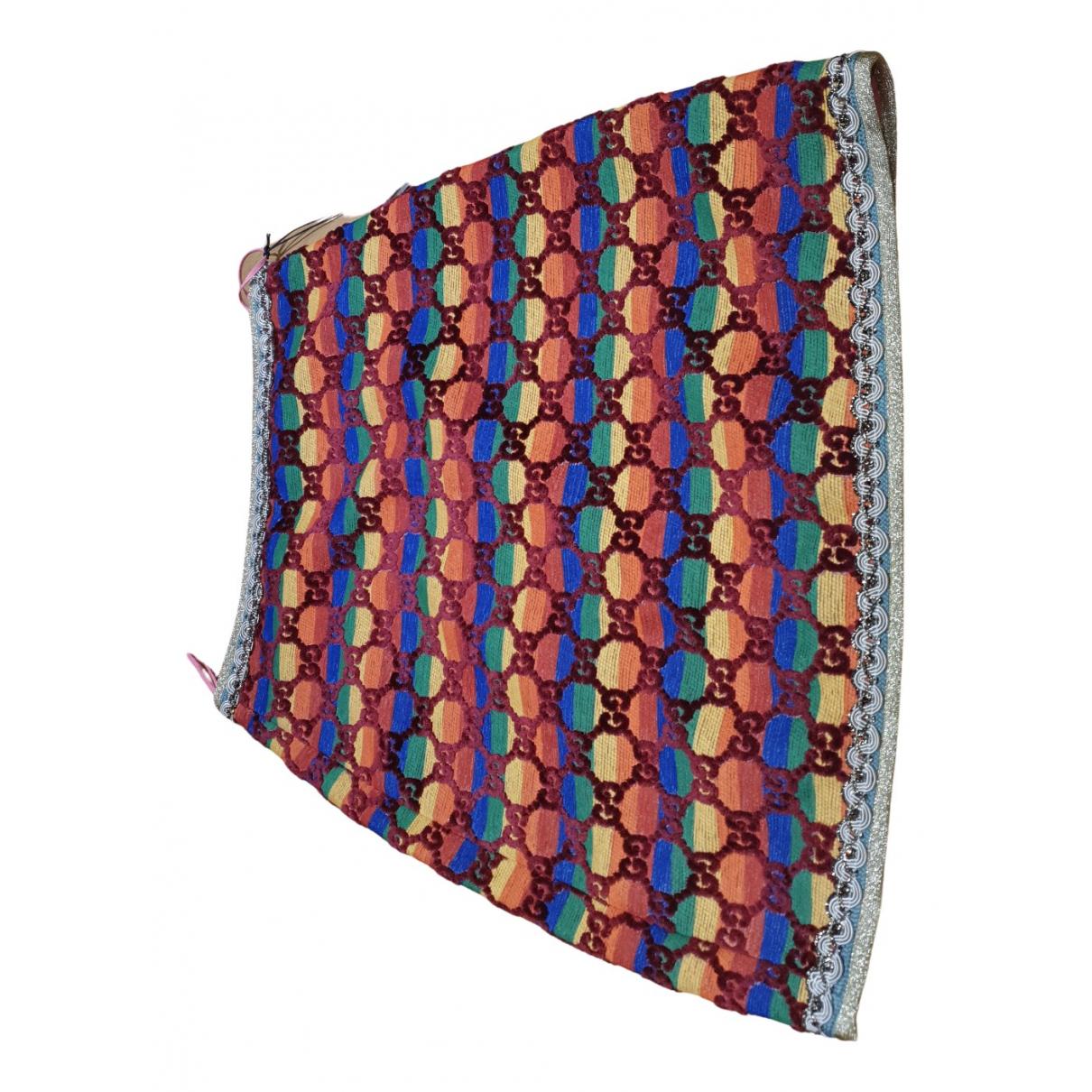 Gucci - Jupe   pour femme en coton - multicolore