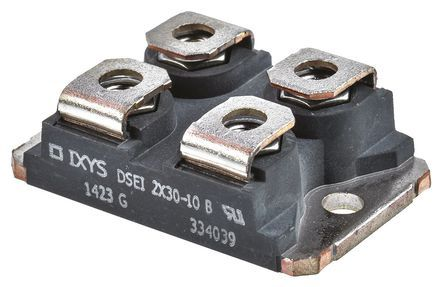 IXYS 1000V 30A, Dual Silicon Junction Diode, 4-Pin SOT-227B DSEI2X30-10B (10)