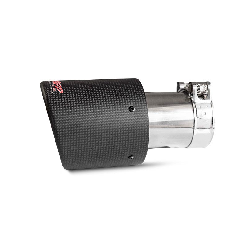 MBRP T5122CF Exhaust Tip 4 Inch O.D. Dual Wall Angled 3 Inch Inlet 7.7 Inch Length Carbon Fiber