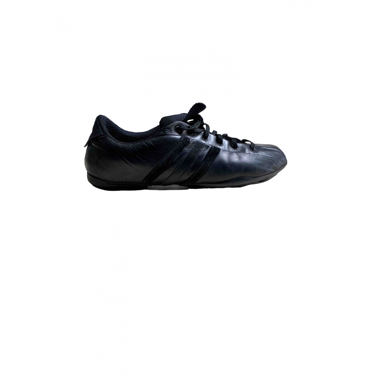 Y-3 \N Black Leather Trainers for Men 11 UK