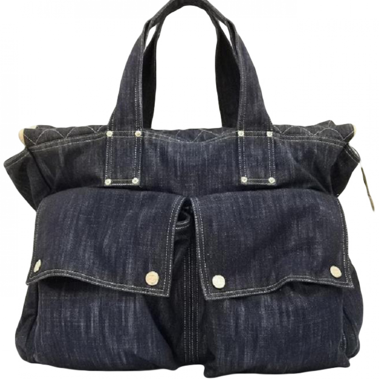 Chanel \N Handtasche in  Blau Denim - Jeans