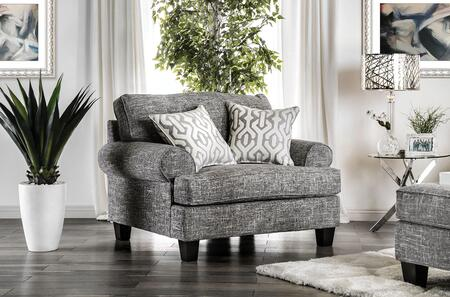 Pierpont Collection SM8012-CH Chair with Pillows Included  Tapered Legs  Fitted Back Pillows  Rolled Arms and Box Cushion Seat in
