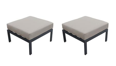 TKC067b-O-DB-BEIGE Ottoman 2 Per Box - Ash and Beige