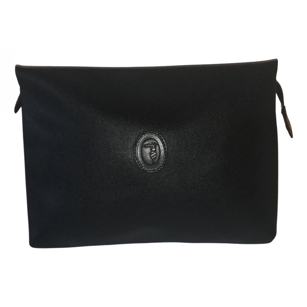 Trussardi \N Black Leather Clutch bag for Women \N