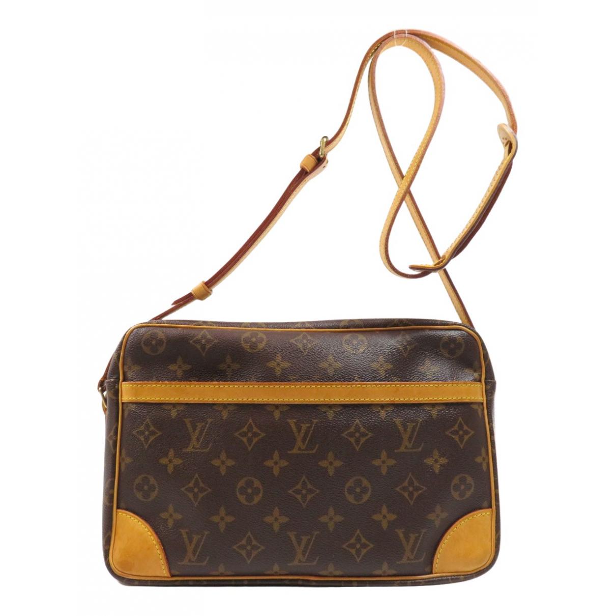 Louis Vuitton - Sac a main Trocadero pour femme en toile - marron