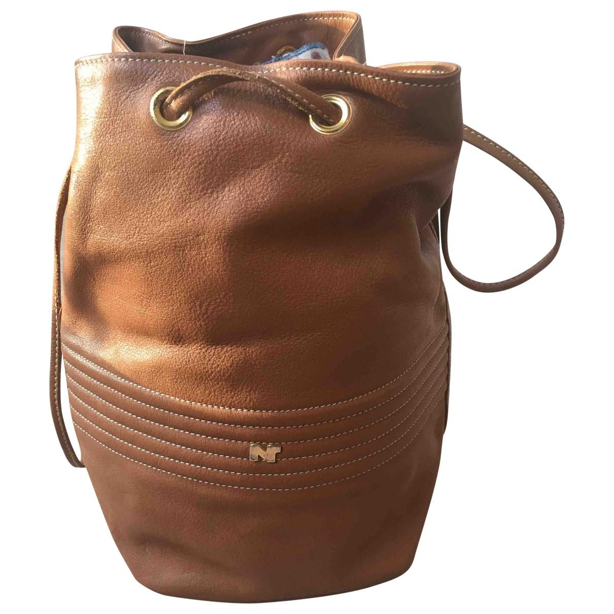 Nina Ricci \N Camel Leather handbag for Women \N