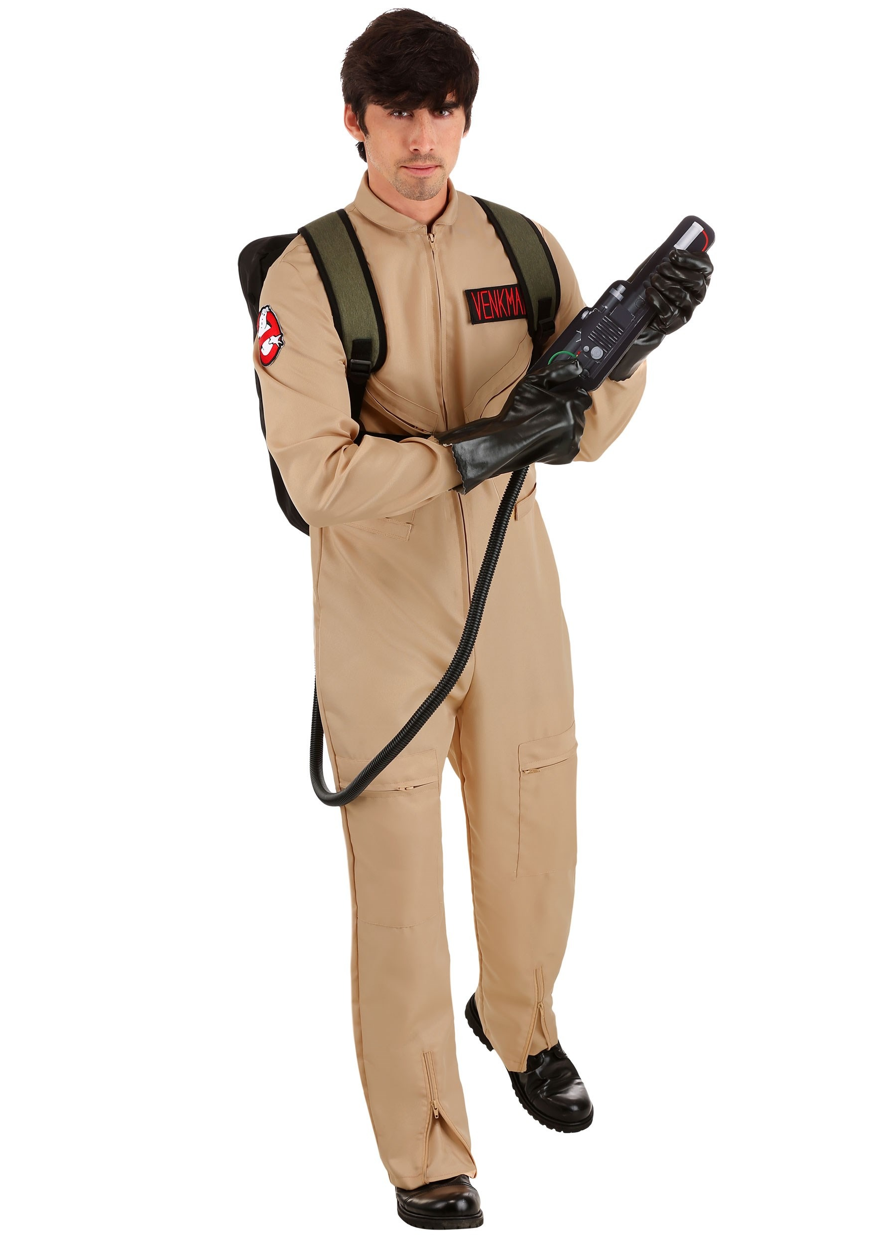 Ghostbusters Men's Plus Size Deluxe Costume | Ghost Hunter Costume