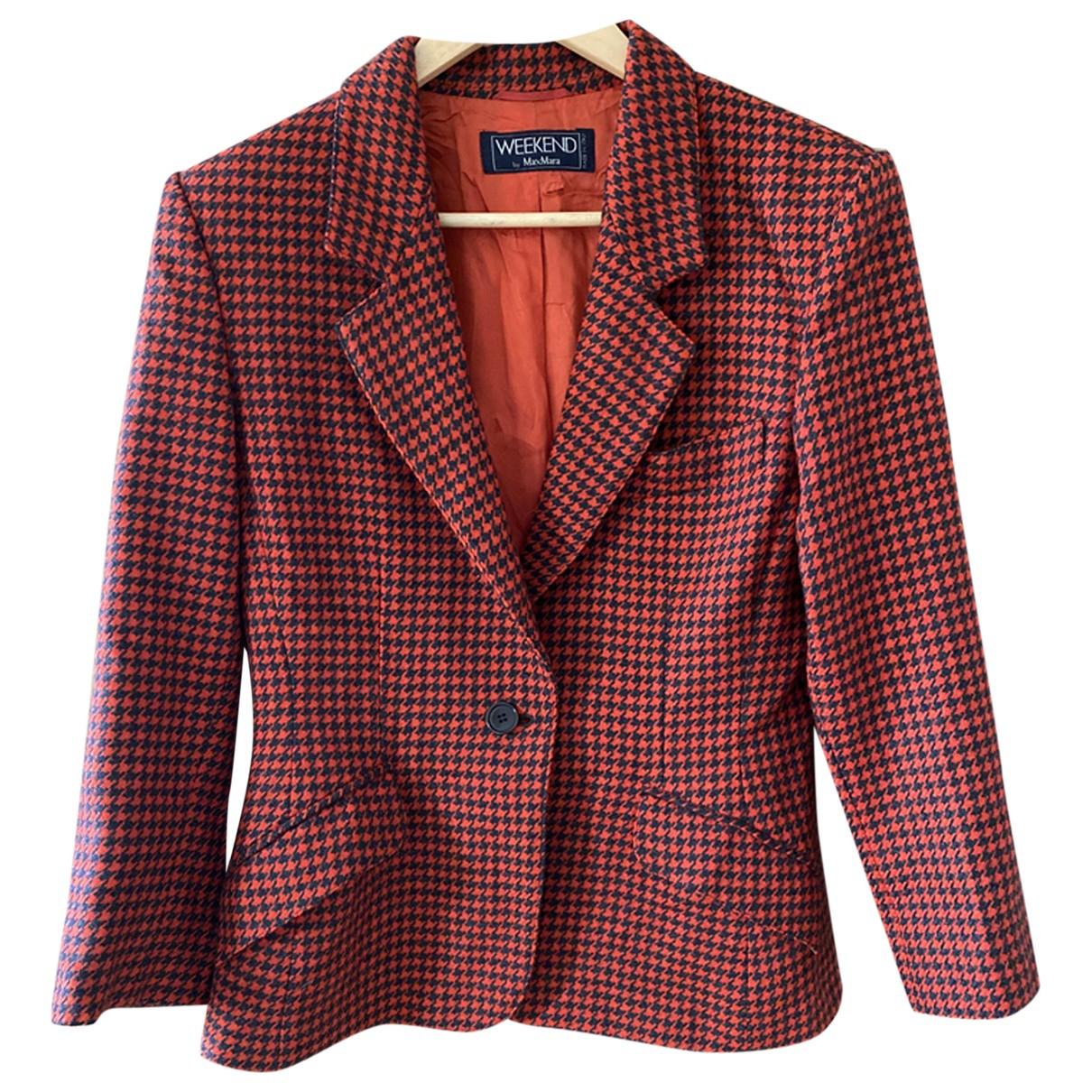 Max Mara Weekend - Veste   pour femme en laine - rouge
