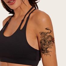 1 Blatt Dragon Pattern Tattoo Aufkleber