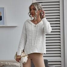 Pullover mit Kordelzug und Kapuze