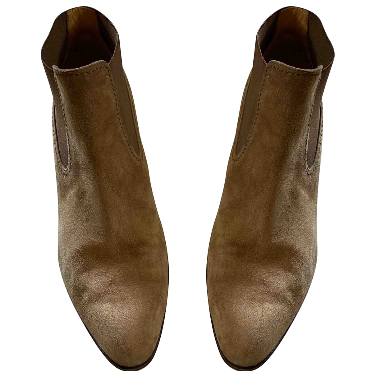 Tod's \N Camel Suede Ankle boots for Women 37.5 EU