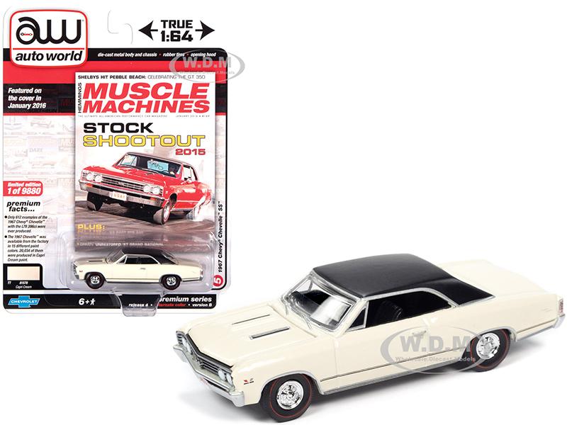 1967 Chevrolet Chevelle SS Capri Cream with Flat Black Vinyl Top