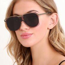 Clear Acrylic Outline Aviator Style Sunglasses