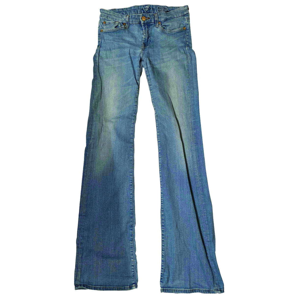 7 For All Mankind \N Blue Denim - Jeans Jeans for Women 29 US