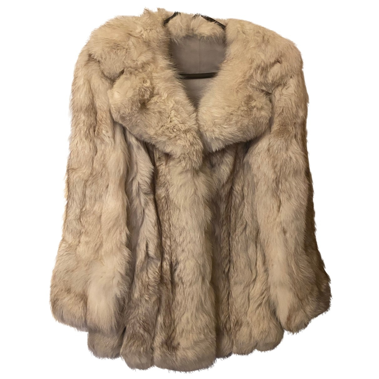 - Manteau   pour femme en fourrure - beige