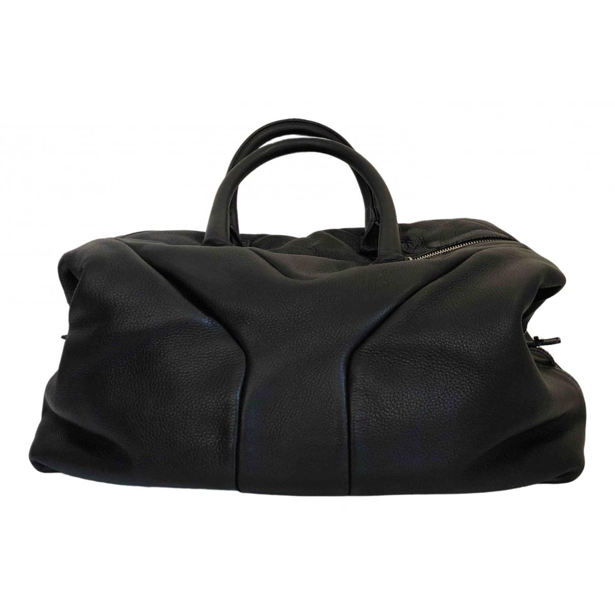 Yves Saint Laurent Easy Anthracite Leather handbag for Women \N