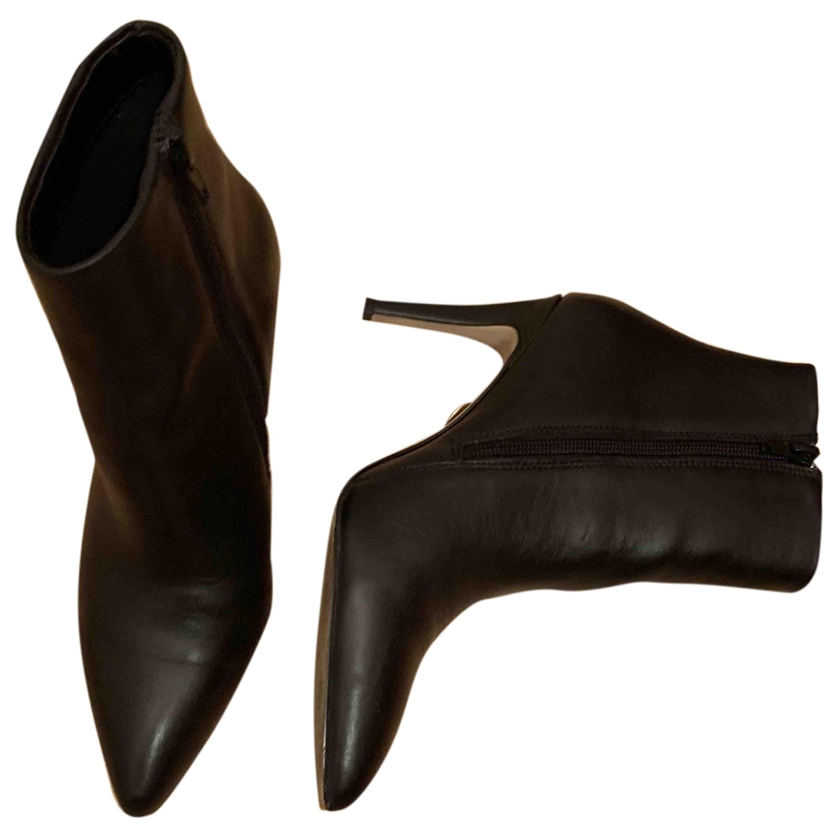 Buffalo \N Black Leather Ankle boots for Women 37 EU