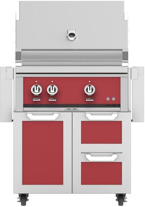 30 Freestanding Natural Gas Grill with GCR30RD Tower Grill Cart with Double Drawer and Door Combo  in Matador