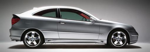 Lorinser 488 1209 10 Left Side Skirt Mercedes-Benz C230 Coupe 01-07
