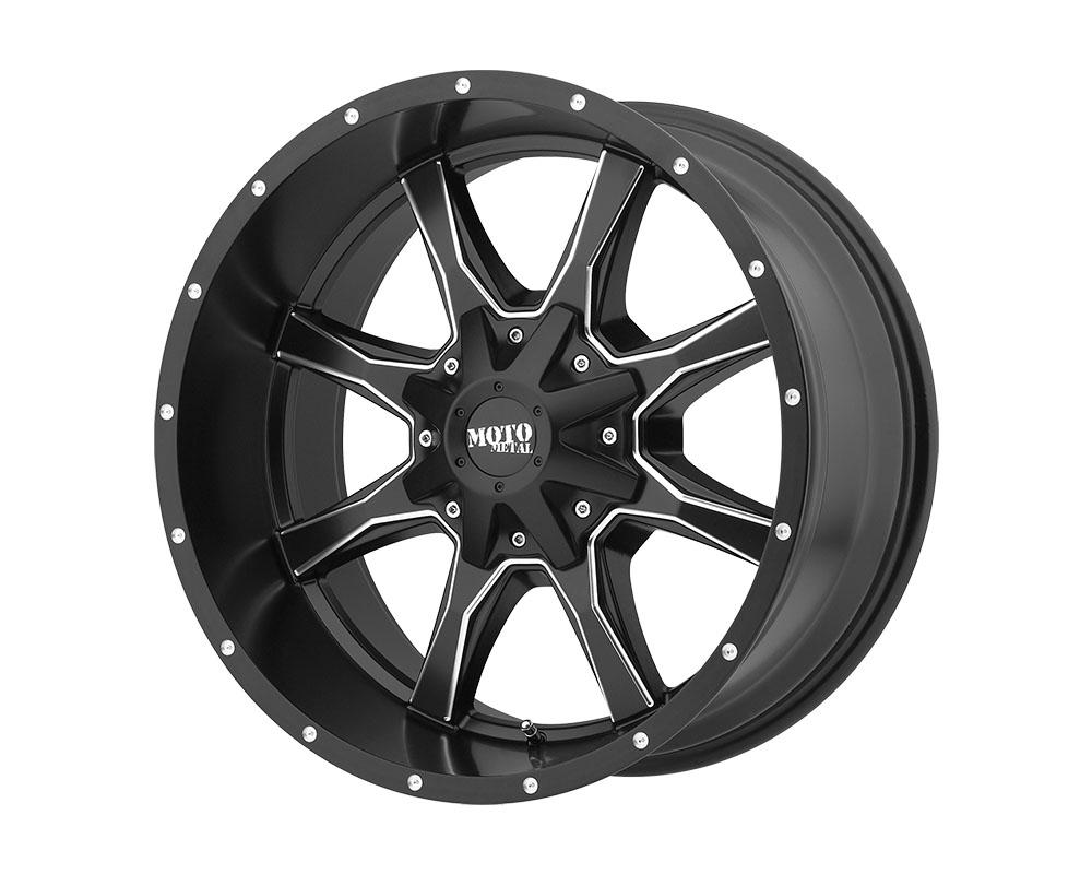Moto Metal MO97078080900 MO970 Wheel 17x8 8x8x165.1 +0mm Satin Black Milled