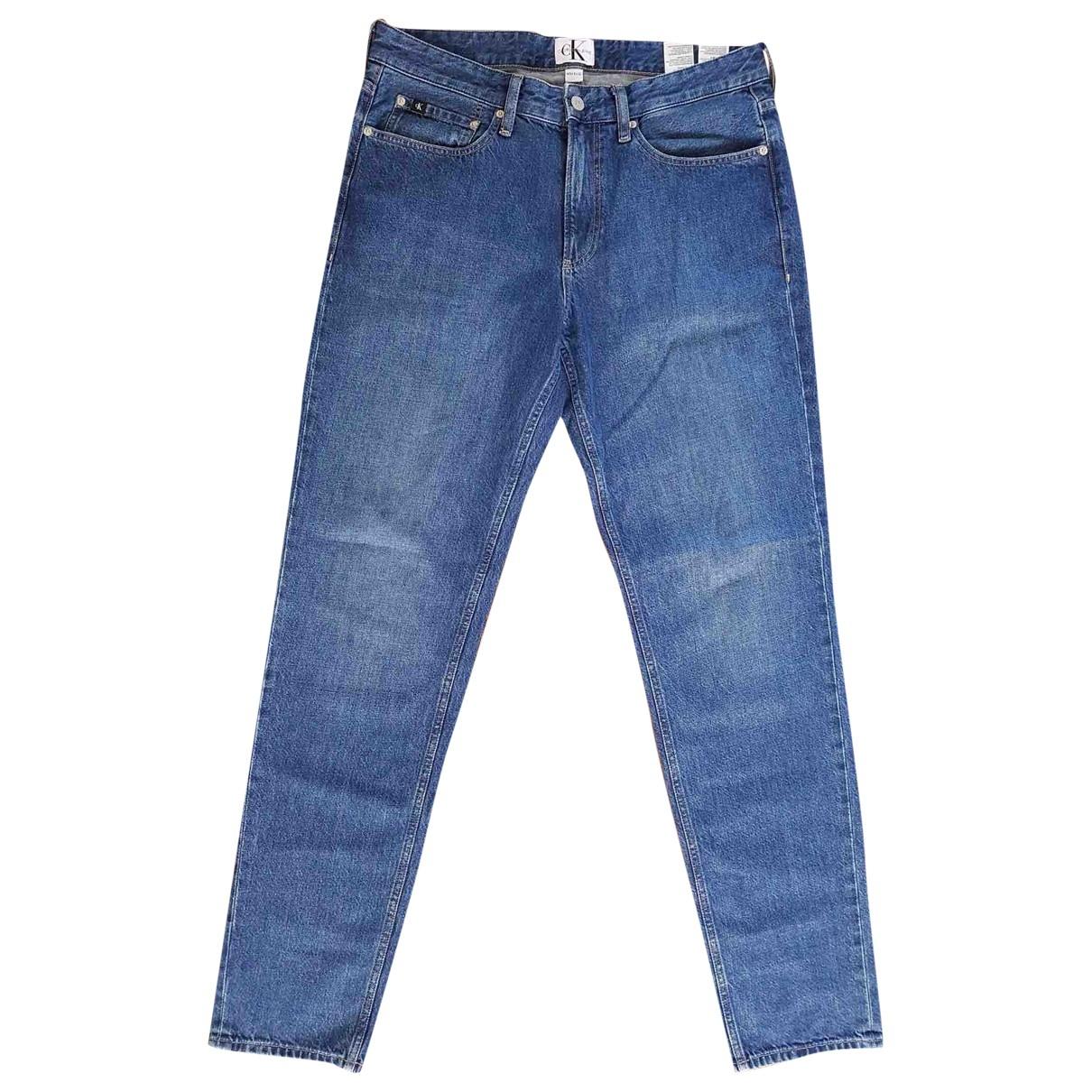 Calvin Klein - Jean   pour homme en coton - bleu