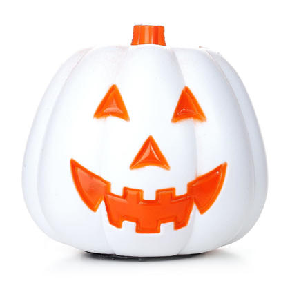 Halloween Decoration Happy Face Fantasy Pumpkin with Light and Sound Activated, 8